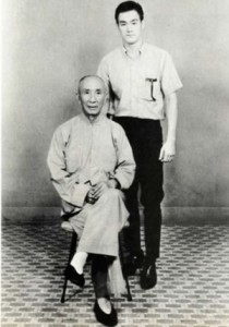 Bruce lee with Yip man